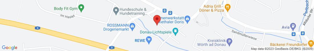 BayWa Baustoffe Woerth/Donau Anfahrt