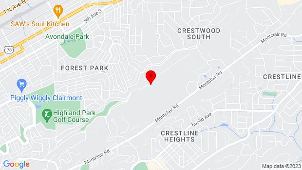 Google Map of 4801 Altamont Road, Birmingham, AL 35222