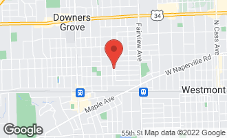 Map of 4813 Stanley Avenue DOWNERS GROVE, IL 60515