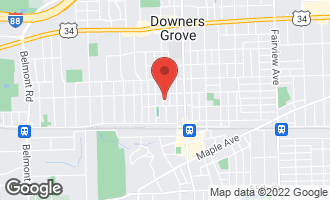 Map of 4821 Saratoga Avenue DOWNERS GROVE, IL 60515