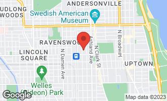 Map of 4831 North Hermitage Avenue 3A CHICAGO, IL 60640