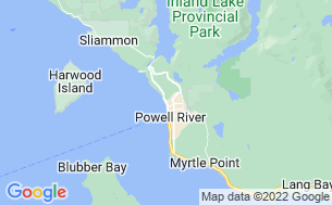 Map of Willingdon Beach Municipal Campsite
