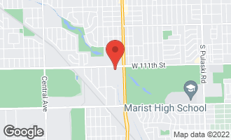 Map of 4845 West 111th Street Alsip, IL 60803