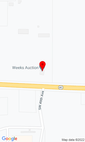 Google Map of Weeks Auction Company 4851 West Hwy 40, Ocala, FL, 34482