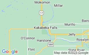 Map of Kakabeka Falls Campground