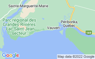 Map of Camping Vauvert-Sur-Le-Lac-Saint-Jean