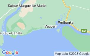Map of Camping Vauvert-Sur-Le-Lac-Saint-Jean