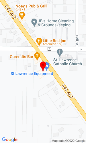 Google Map of St. Lawrence Equipment, Inc 4889 State Hwy 175, Hartford, WI, 53027-9436