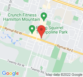 Google Map of 49+Rymal+Road+East%2CHamilton%2COntario+L9B+1B9