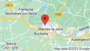 Carte de localisation du centre de contrôle technique MANTES LA JOLIE