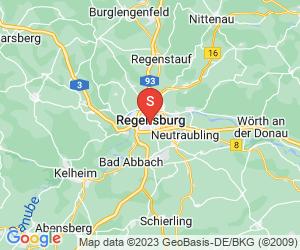 Karte für Disc Golf-Anlage Regensburg Disc Golf-Parcours Uni