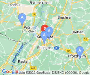 Karte für Outdoorpark des CVJM Karlsruhe