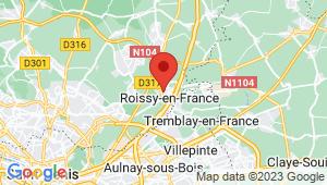 Carte de localisation du centre de contrôle technique ROISSY EN FRANCE