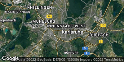 Google Map of Hohenwettersbach