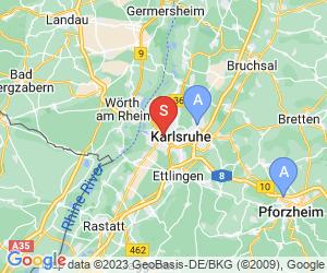 Karte für The Rock Kletterzentrum Karlsruhe