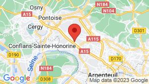 Carte de localisation du centre de contrôle technique HERBLAY