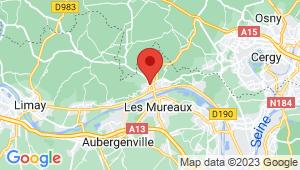 Carte de localisation du centre de contrôle technique HARDRICOURT