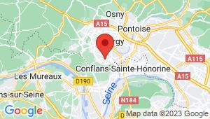Carte de localisation du centre de contrôle technique JOUY LE MOUTIER
