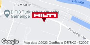 Wegbeschreibung zu Hilti Store Regensburg