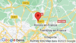 Carte de localisation du centre de contrôle technique GOUSSAINVILLE