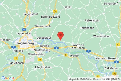 Karte Bach an der Donau