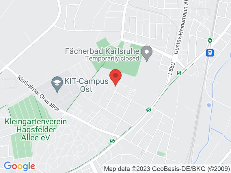 Map of Hochschule Karlsruhe