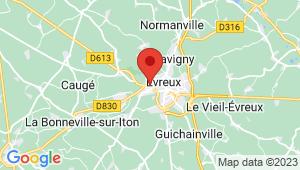 Carte de localisation du centre de contrôle technique EVREUX