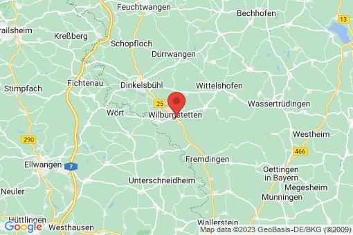 Karte Wilburgstetten