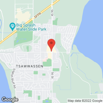 Map of Tim Hortons at 1211 56th St, Tsawwassen, BC V4L 2A6