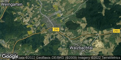 Google Map of Walzbachtal