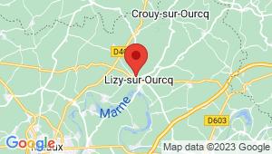 Carte de localisation du centre de contrôle technique LIZY SUR OURCQ