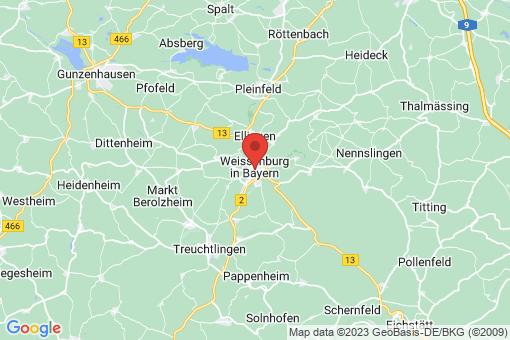 Karte Weißenburg in Bayern