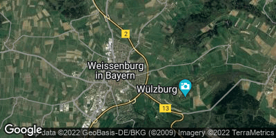 Google Map of Weißenburg in Bayern