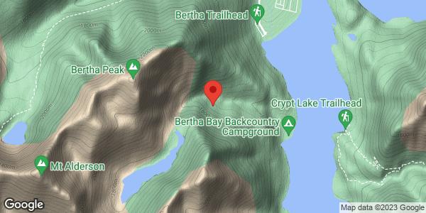 Mt. Richards above Lower Bertha Falls