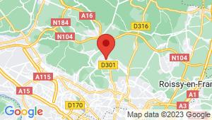 Carte de localisation du centre de contrôle technique DOMONT