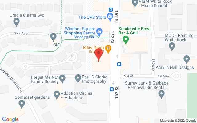 White Rock Orthopaedic & Sports Physiotherapy Clinic Static Google Map Wide Version