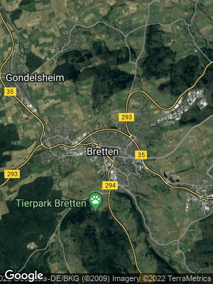 Google Map of Bretten