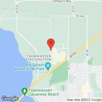 Map of Staples Print & Marketing Services at 4949 Canoe Pass Way, Tsawwassen, BC V4M0B2