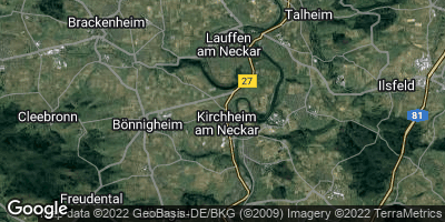 Google Map of Kirchheim am Neckar