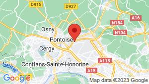 Carte de localisation du centre de contrôle technique ST OUEN L AUMONE