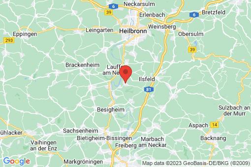 Karte Neckarwestheim