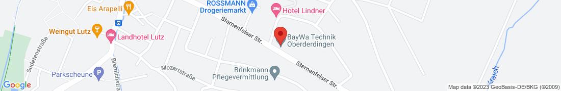 BayWa Technik Oberderdingen Anfahrt