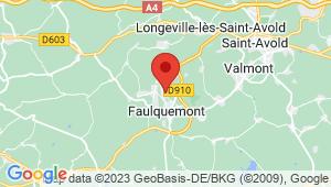 Carte de localisation du centre de contrôle technique FAULQUEMONT