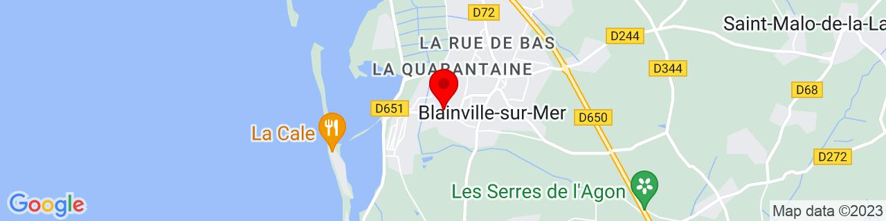 Google Map of 49.0640856, -1.5905507