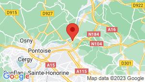 Carte de localisation du centre de contrôle technique MERIEL