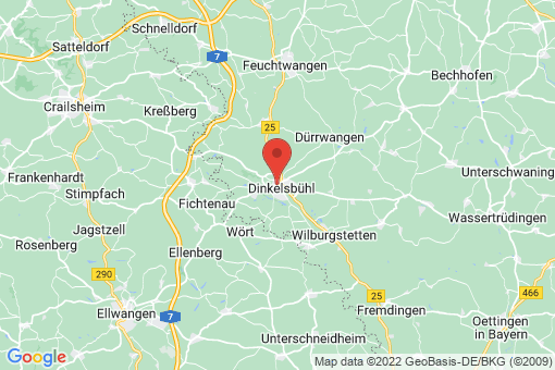 Karte Dinkelsbühl
