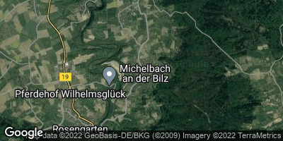 Google Map of Michelbach an der Bilz