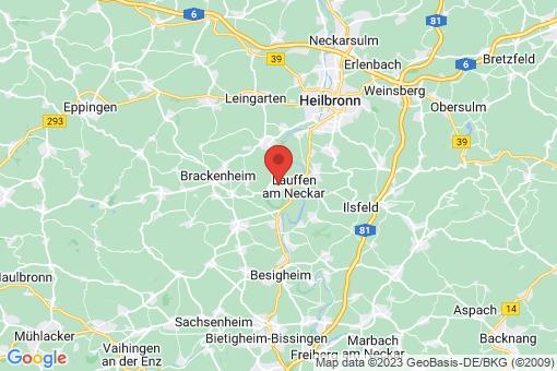 Karte Lauffen am Neckar