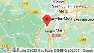 Carte de localisation du centre de contrôle technique AUGNY