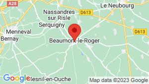 Carte de localisation du centre de contrôle technique BEAUMONT LE ROGER
